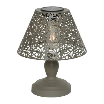 Outdoor Solar LED Metal Table Lamp - Taupe