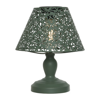 Outdoor Solar LED Metal Table Lamp - Green