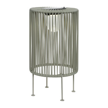Outdoor Solar LED Wire Table Lamp - Light Grey