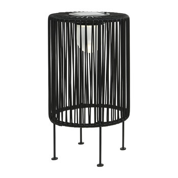 Outdoor Solar LED Wire Table Lamp - Black