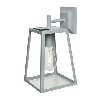 Outdoor LED Solar Cube Light - Grey