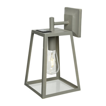 Outdoor LED Solar Cube Light - Taupe