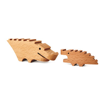 Croc Pile Mini Building Blocks - Set of 10 - Natural