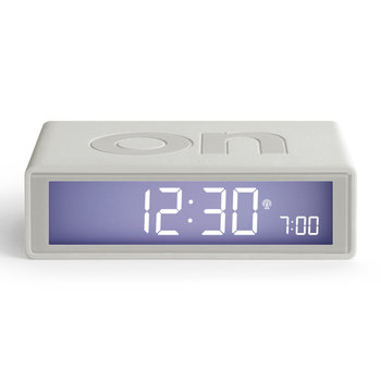 Flip+ Alarm Clock - White