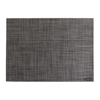 Basketweave Rectangle Placemat - Carbon