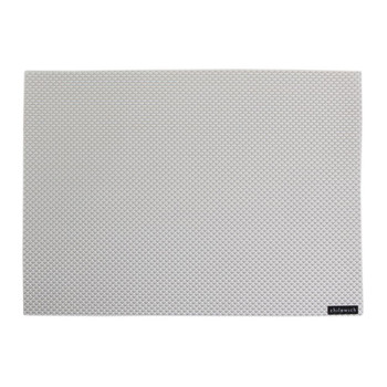 Basketweave Rectangle Placemat - White