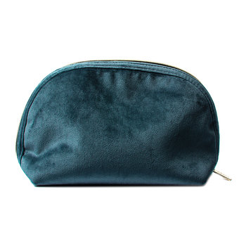 Luxe Velvet Moon Pouch - Teal