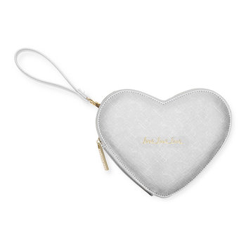 Love Heart Clutch - Silver