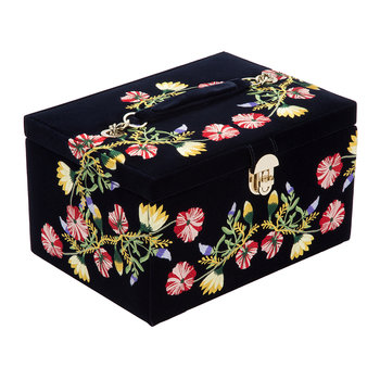 Zoe Medium Jewellery Box - Indigo