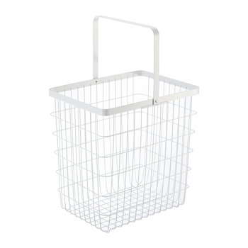 Tower Wire Laundry Basket - White