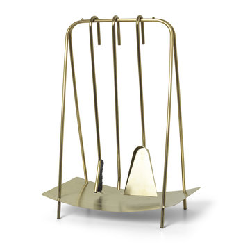 Port Fireplace Tools - Brass