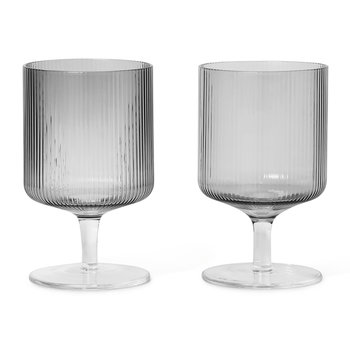 Ripple Wine Glass - Set of 2 - Smoked