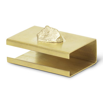 Stone Matchbox Cover - Brass