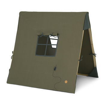 Tent with Beetle Embroidery - Dark Olive