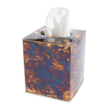 Cascade Tissue Box - Rainbow Bronze