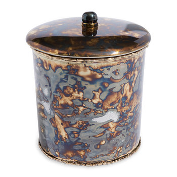 Cascade Covered Canister - Rainbow Bronze