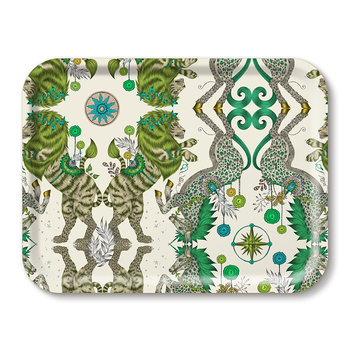 Caspian Rectangular Tray - Green