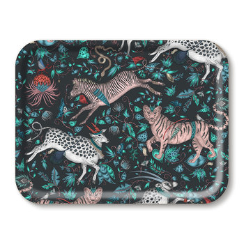 Protea Rectangular Tray - Navy