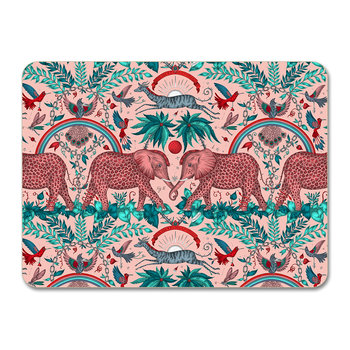 Zambia Placemat - Teal - Pink