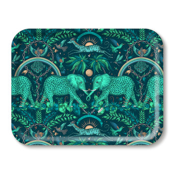 Zambia Rectangular Tray - Teal