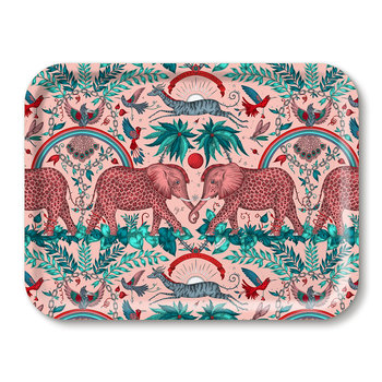 Zambia Rectangular Tray - Pink