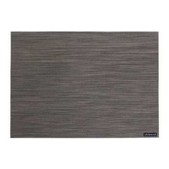 Mini Basketweave Rectangle Placemat - Light Gray