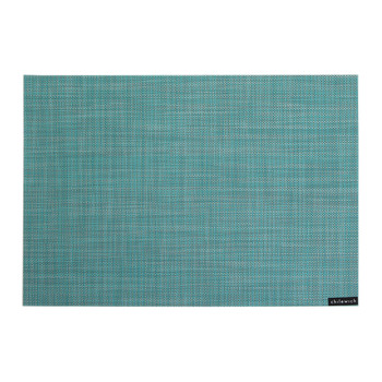 Mini Basketweave Rectangle Placemat - Turquoise