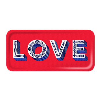 'Word' Rectangular Tray - Love