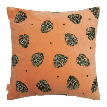 Jungle Leaf Pillow - 45x45cm - Copper