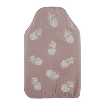 Ananas Velvet Hot Water Bottle - Mauve