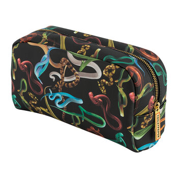 Large Cosmetics Bag - Snakes