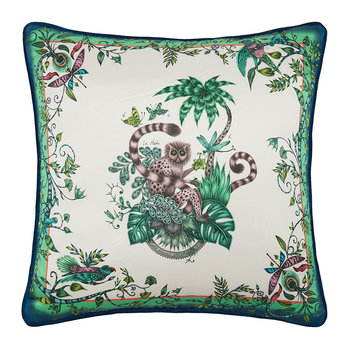 Lemur Cushion - 45x45cm - Green