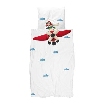 Airplane Monkey Duvet Set
