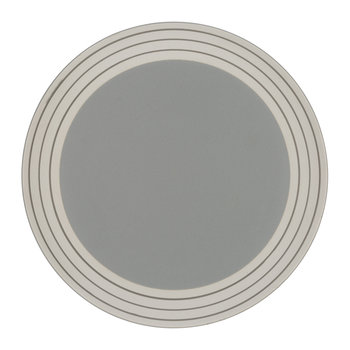 Clef Stripe Dinner Plate - Dark Gray