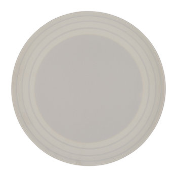 Clef Stripe Dinner Plate - Light Gray
