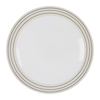 Clef Stripe Dinner Plate - Black/White