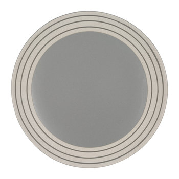Clef Stripe Salad Plate - Dark Gray