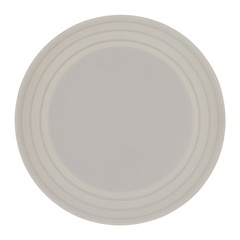 Clef Stripe Salad Plate - Light Gray