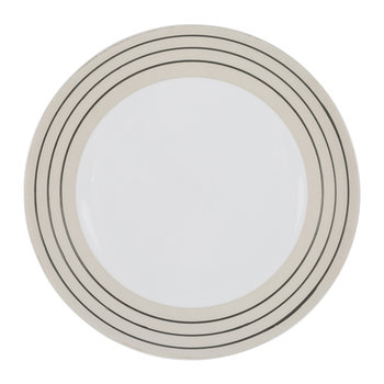 Clef Stripe Salad Plate - Black/White