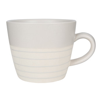 Clef Stripe Mug - Light Gray