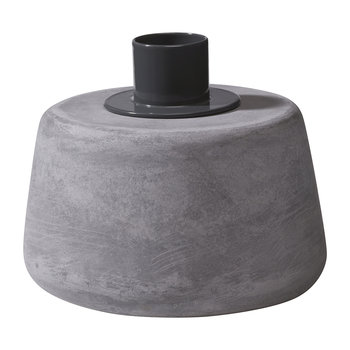Cone Candle Holder - Short - Grey