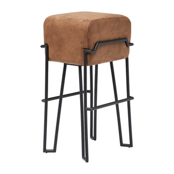 Bokk Leather Bar Stool - Brown