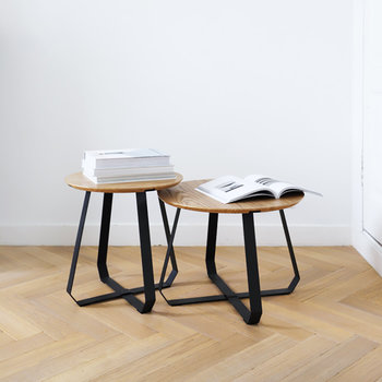 Shunan Side Table - Short - Black