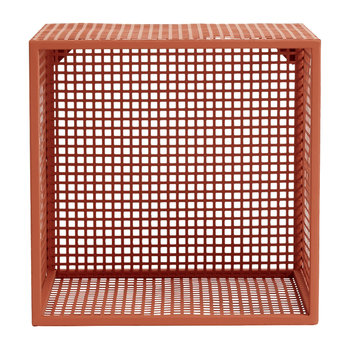 Wire Box Shelf - Terracotta