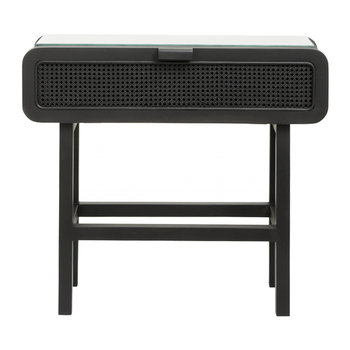 Teak Console Table - Black