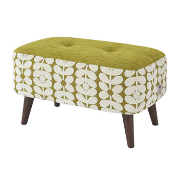 Donegal Pouf - Small - Olive/Yellow