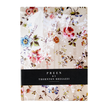 Printed Satin Notebook - Nude Floral