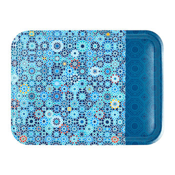 Rectangular Tray - 46x34cm - Moucharabieh Bleu