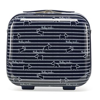 Dog Stripe Vanity Case - Ink