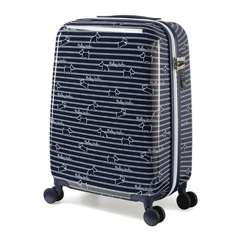 Dog Stripe Suitcase - Ink